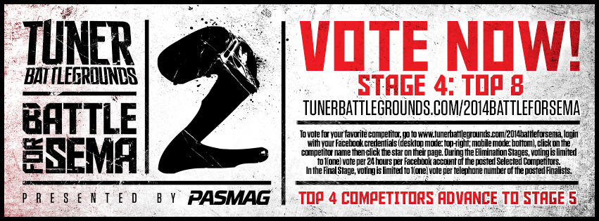 PASMAG Tuner Battlegrounds Battle for SEMA - Cover Graphic - Stage 4