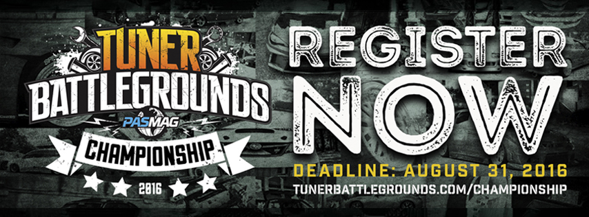 Tuner Battlegrounds Championship 2016 Register 854x316