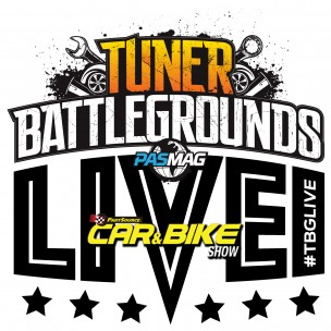 Tuner Battlegrounds TBGLIVE Logo Part Source Car Show