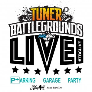 Tuner Battlegrounds Parking Garage Party 2017 logo V4